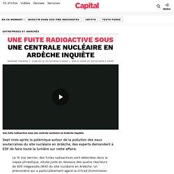 Une fuite radioactive sous une centrale nucléaire en Ardèche inquiète