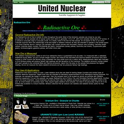 Radioactive Ore : United Nuclear , Scientific Equipment & Supplies