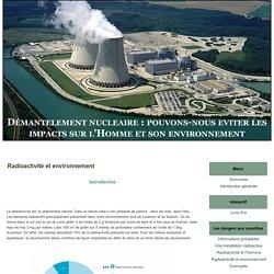 Radioactivité et environnement