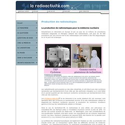Production radioisotopes