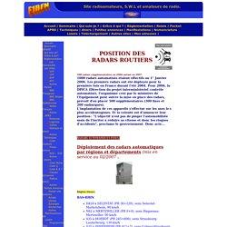F1RFN- Site radioamateurs, SWL et amateurs de radio. Position des radars fixes et mobiles