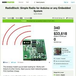 RadioBlock: Simple Radio for Arduino or any Embedded System by Eric Gnoske
