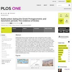 Radiocarbon dating the Greek Protogeometric and Geometric periods: The evidence of Sindos