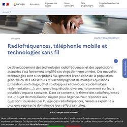 Radiofréquences, téléphonie mobile et technologies sans fil
