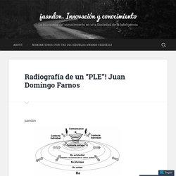 """Radiografía de un """"PLE""""! Juan Domingo Farnos – juandon. Innovación y conocimiento"""
