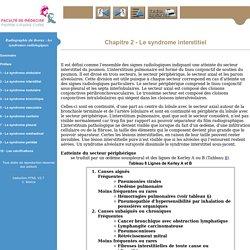 Radiographie du thorax: les syndromes radiologiques - PCEM2 - EIA appareil respiratoire