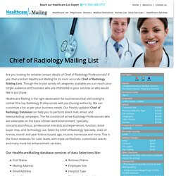Chief of Radiology Mailing List