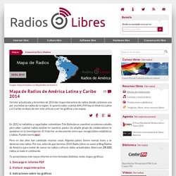 Mapa de radios de américa latina y caribe 2014