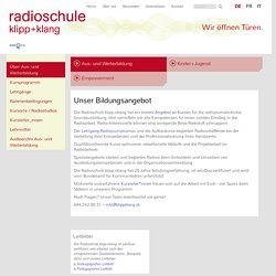 Radioschule klipp+klang – Unser Bildungsangebot