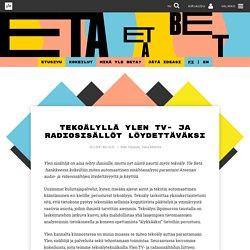 Tekoälyllä Ylen TV- ja radiosisällöt löydettäväksi