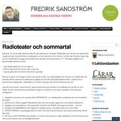 Radioteater och sommartal