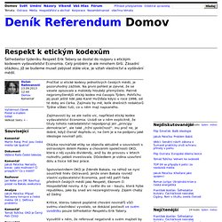 Dušan Radovanovič: Respekt k etickým kodexům