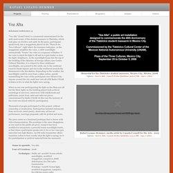 "Rafael Lozano-Hemmer - Project ""Voz Alta"""