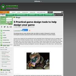 Rafael Vazquez's Blog - 5 Practical game design tools to help design your game