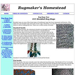 Varieties Of Braided Rag Rugs