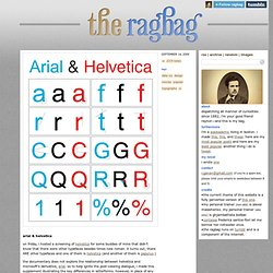 the ragbag - arial