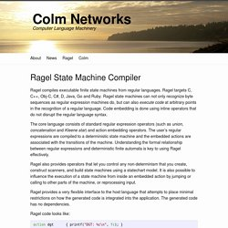 Ragel State Machine Compiler