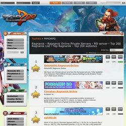 Ragnarok - Ragnarok Online Private Servers - RO server - Top 200 Ragnarok List - Top Ragnarok