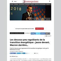 Les dessous peu ragoûtants de la transition énergétique : jaune devant, Macron derrière…