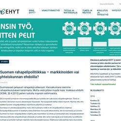 Suomen rahapelipolitiikkaa – markkinoiden vai yhteiskunnan ehdoilla?
