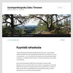 Uuninpankkopoika Saku Timonen