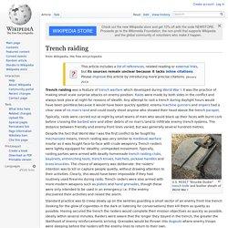 Trench raiding