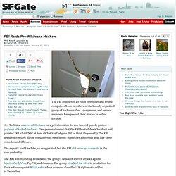 FBI Raids Pro-Wikileaks Hackers