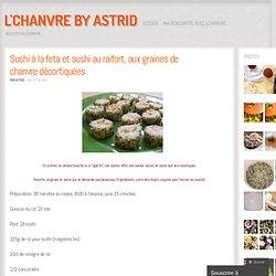 Sushi à la feta et sushi au raifort, aux graines de chanvre décortiquées