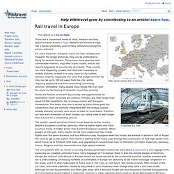 Rail travel in Europe travel guide