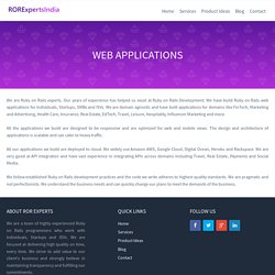 Ruby on Rails Web Application Development, ROR Web Application