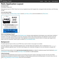Rails Application Layout
