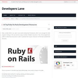 14 Top Ruby On Rails Development Resources