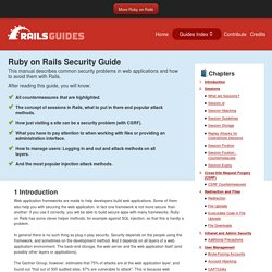 Ruby On Rails Security Guide
