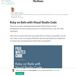 Ruby on Rails with Visual Studio Code – Paul Lonsdale