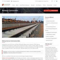 Railway contractors India private railway laying linking services.