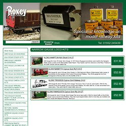 Narrow gauge loco kits, 4mm & 7mm narrow gauge model railway locomotive kits, Roxey Mouldings