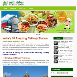10 Best Railway Station Of India