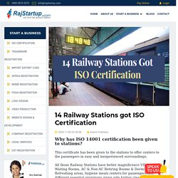 14 Railway Stations got ISO Certification