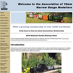 Narrow Gauge Garden Railways with the Association of 16mm Narrow Gauge Modellers