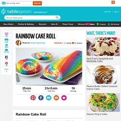 Rainbow Cake Roll recipe