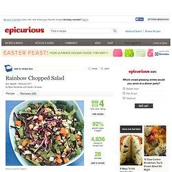 Rainbow Chopped Salad Recipe at Epicurious
