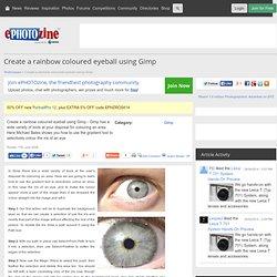 Create a rainbow coloured eyeball using Gimp