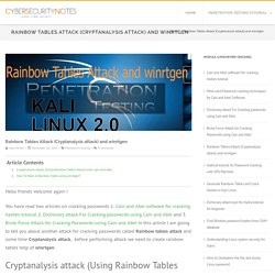 Rainbow Tables Attack (Cryptanalysis attack) and winrtgen