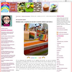 Recette: a Rainbow cake / un gateau arc-en-ciel !