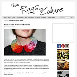 Rainbow Pom Pom Collar Necklace