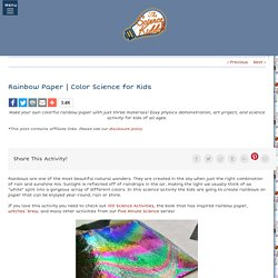 Color Science for Kids- Science Kiddo