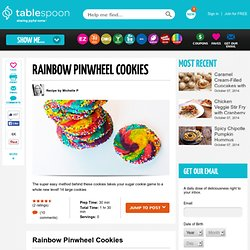 Rainbow Pinwheel Sugar Cookies Recipe