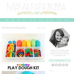 Rainbow Play Dough Kit - Mama.Papa.Bubba.