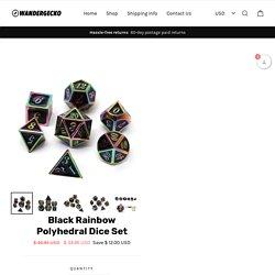 Black Rainbow Polyhedral Dice Set – WanderGecko