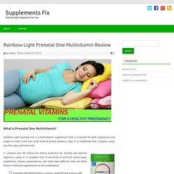 Rainbow Light Prenatal One Multivitamin Reviews
